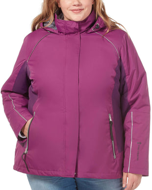 Free Country Women's Plus Size Summit 3-in-1 Systems Jacket - Plum - 1X
