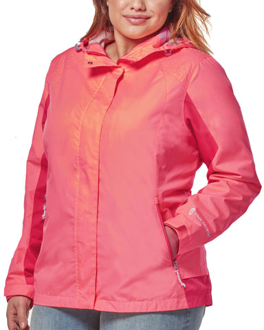 Free Country Women's Plus Size Sunswept Athletx Windbreaker Jacket - Peach Punch - 1X
