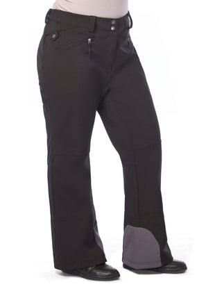 Free Country Women's Plus Size Swift Super Softshell Ski Pants - Black - 1X