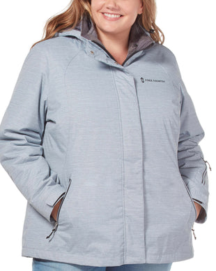 Free Country Women's Plus Size Trailblazing 3-in-1 Systems Jacket - Silver Chip - 1X
