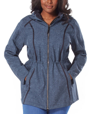 Free Country Women's Plus Size Trailside Super Softshell® Jacket - Denim - 1X