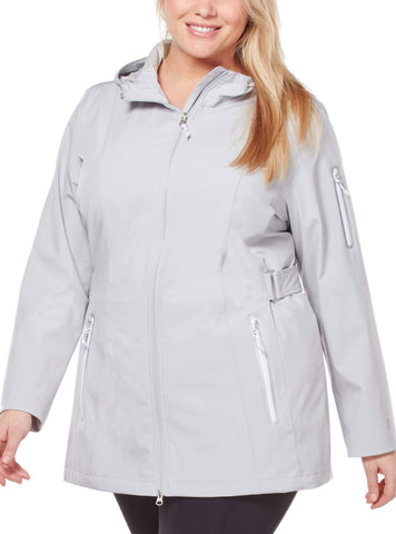 Free Country Women's Plus Size Traipse X2O Jacket - Winter Silver - 1X
