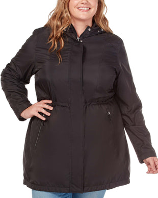 Free Country Women's Plus Size Westerly Windshear Jacket - Black - 1X