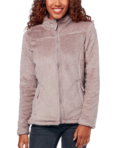 Free Country Women's Plush Fleece Jacket - Walnut - S