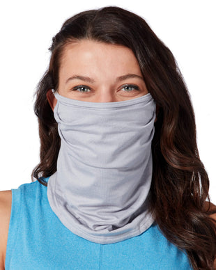 Free Country Women's Protective Face Mask Gaiter w/ Filter Pocket - 2PC Set - Black-Grey - O/S