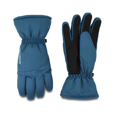 Free Country Women's Puffer Quilted Ski Glove - Agate Blue - S/M