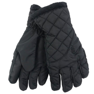 Free Country Women's Quilted Cire Glove - Black - S/M