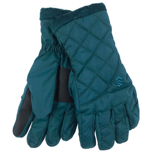 Free Country Women's Quilted Cire Glove - Teal - S/M