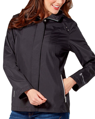 Free Country Women's Rainless Radiance Anorak Rain Jacket - Black - S