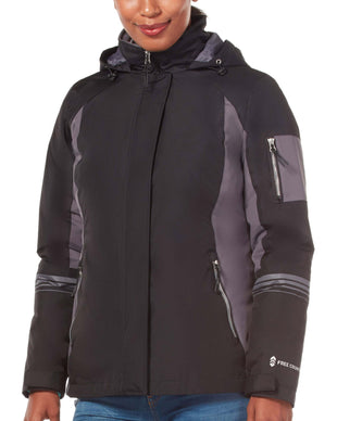 Free Country Women's Plus Size Relentless 3-in-1 Systems Jacket - Black - 1X