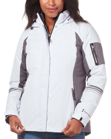 Free Country Women's Plus Size Relentless 3-in-1 Systems Jacket - White - 1X