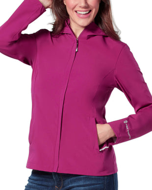 Free Country Women's Roam X2O Packable Jacket - Berry - S
