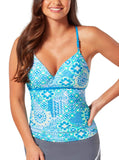 Women's Santorini Strappy Sweetheart Tankini Top