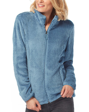 Free Country Women's Serene Plush Butter Pile Jacket - Urban Blue - S