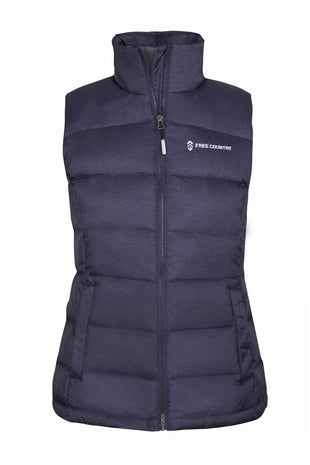 Free Country Women's Slope Down Vest - Coastal Blue - S