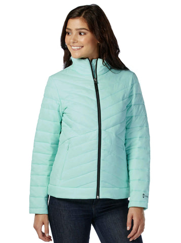 Free Country Women's Snowbound Chalet Cire Puffer Jacket - Spearmint