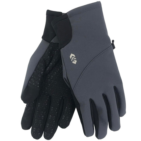 Free Country Women's Softshell Glove with Butter Pile Fleece Lining - Slate - M/L