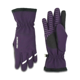 Free Country Women's Solid Softshell Glove - Purple - S/M