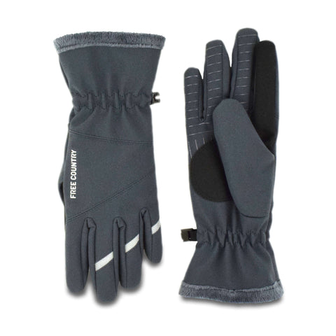 Free Country Women's Solid Softshell Glove - Slate - S/M