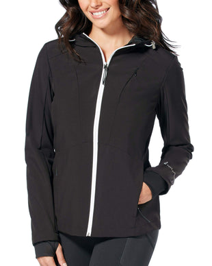 Free Country Women's Plus Size Springtime Super Softshell® Jacket - Black - 1X