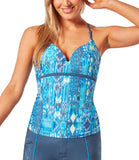 Women's Sun Rays Triple Strap Tankini Top