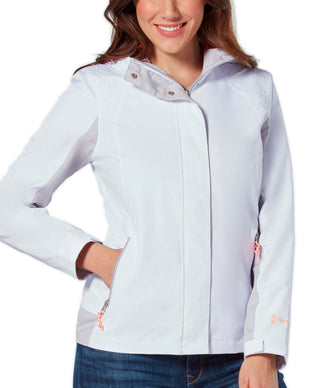 Free Country Women's Sunswept Athletx Windbreaker Jacket - White - S