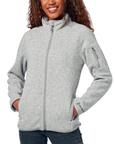 Free Country Women's Sweater Fleece Jacket - Silver - S