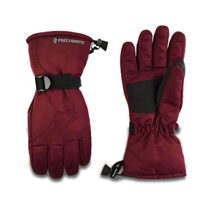 Free Country Women's Taslon Board Glove - Wine - S/M
