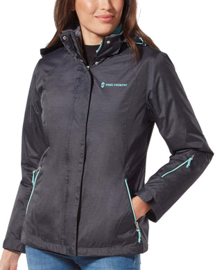 Free Country Women's Petite Trailblazing 3-in-1 Systems Jacket - Black - PS