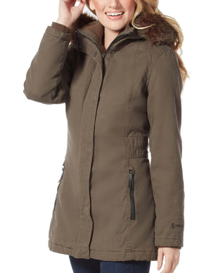 Free Country Women's Vanguard Parka Jacket - Dark Olive - S