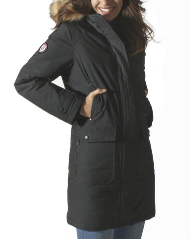 Free Country Women's Virtue Down Parka Jacket - Black - S
