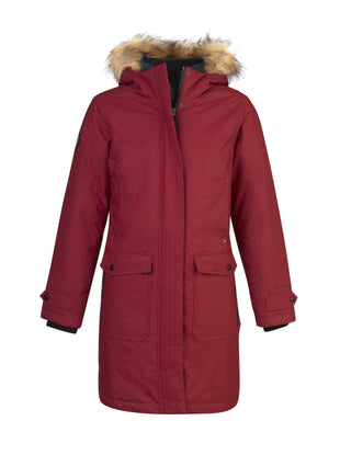 Free Country Women's Virtue Down Parka Jacket - Red - S