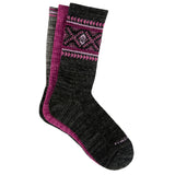 Women's Wool-Blend Aztec Pop Crew Socks