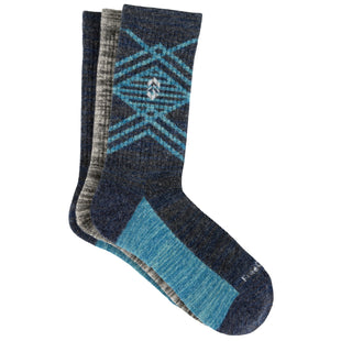 Free Country Women's Wool-Blend Pop Marl Crew Socks - Blue - 6-10