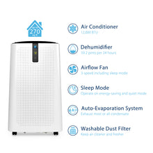 12,000 BTU Portable Air Conditioner | A018-12KR/C