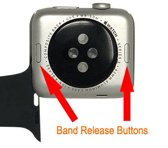 Apple Watch Band Release Button