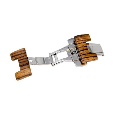 Zebra Natural Wood Watch Band Clasps - Epic Watch Bands