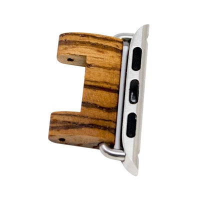 Zebra Natural Wood Watch Band Adapters - Epic Watch Bands