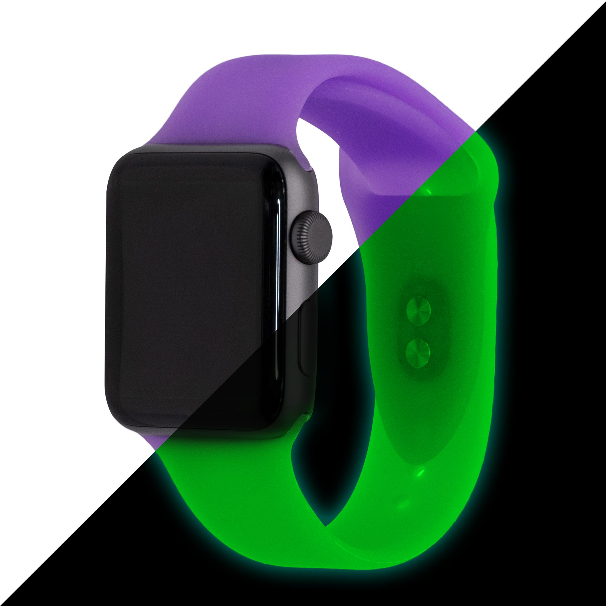 Glow-in-the-Dark Purple Specialty Silicone Apple Watch Bands | Epic Watch Bands