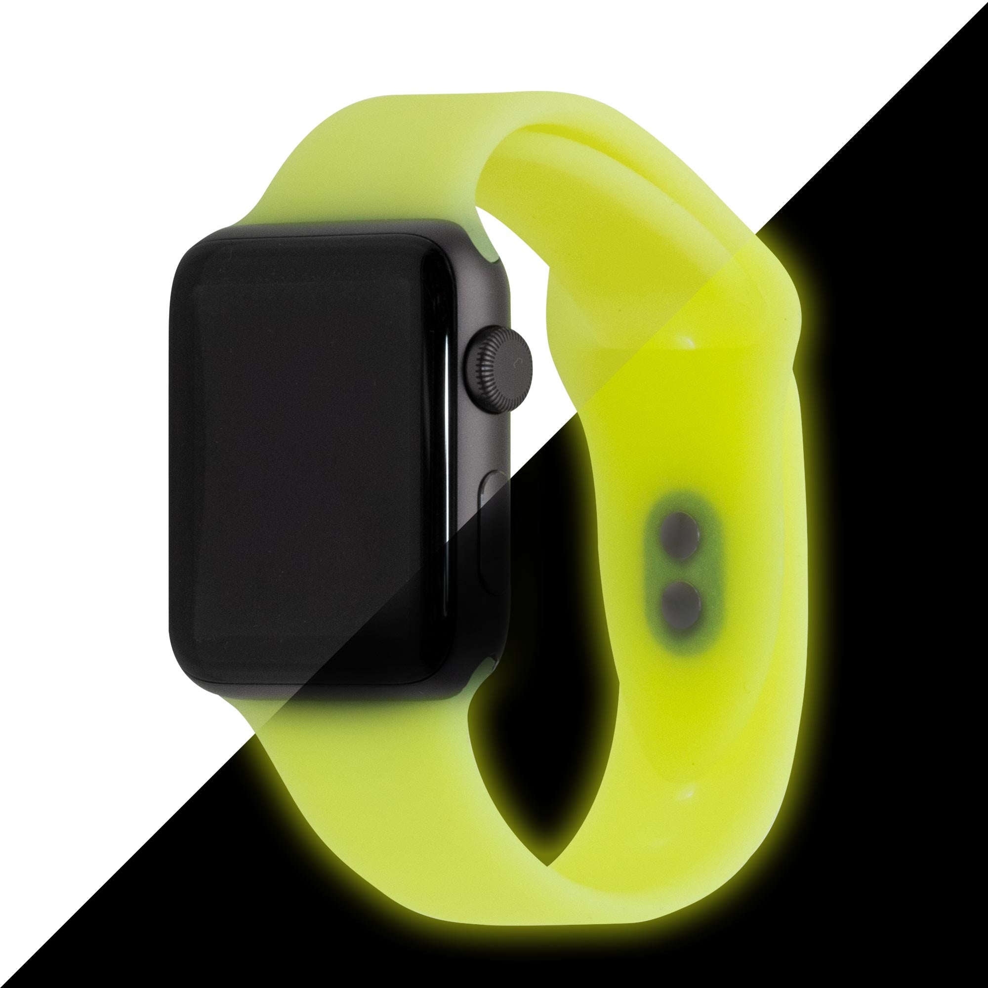 Glow-in-the-Dark Yellow Specialty Silicone Apple Watch Bands | Epic Watch Bands