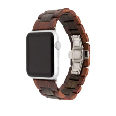Red/Black Natural Wood Watch Bands - Epic Watch Bands