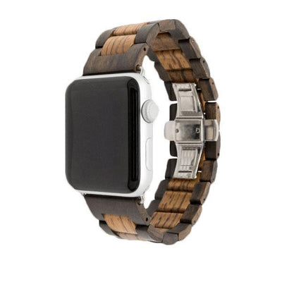Black/Zebra Natural Wood Watch Bands - Epic Watch Bands