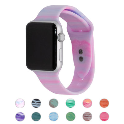 Cotton Candy Silicone Apple Watch Bands