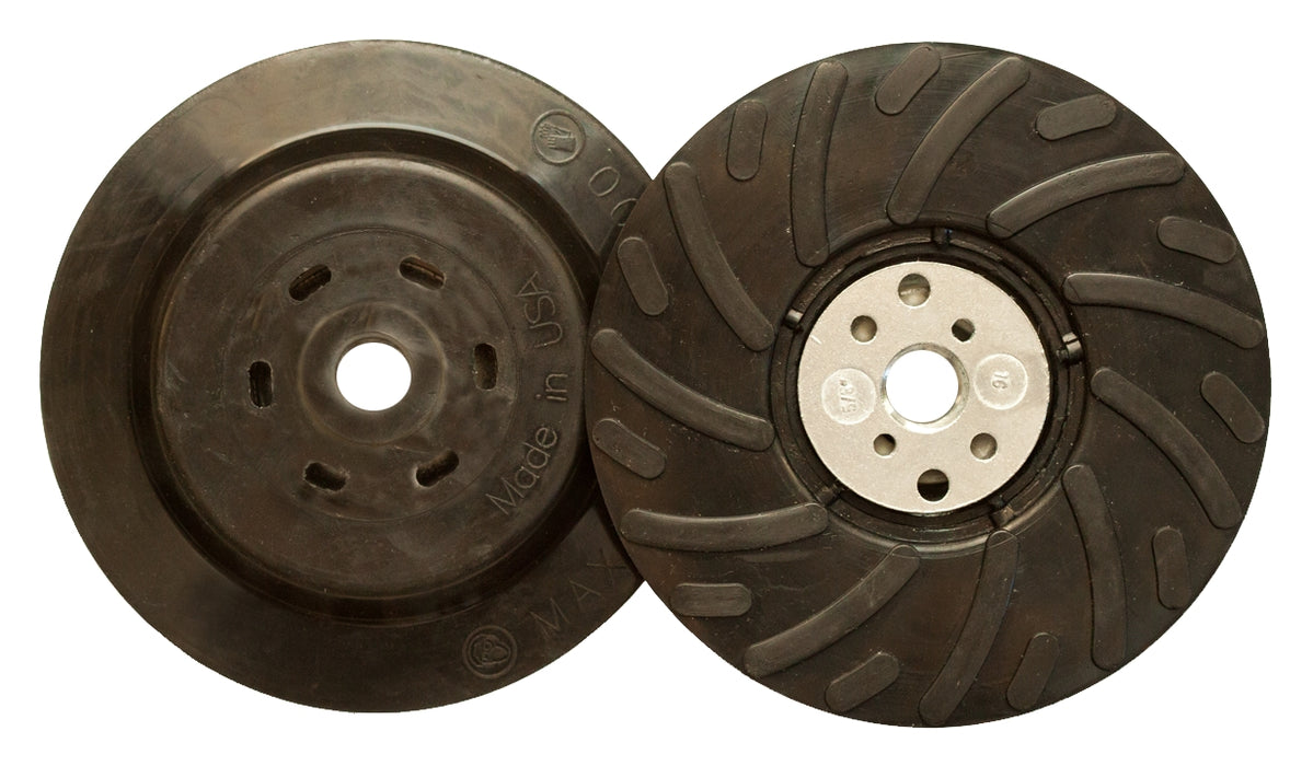 Fibre Disc Backup Pad Klingspor 305849 Fibre Disc Backup Pad With Slots for Angle Grinder4-1/2 Inch & Retaining Nut 5/8-11