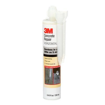Nozzles 3M DP600SL-8.4OZ-GRY Self-Levelling Concrete Repair 600 With Cartridge 8.4 Oz & Two Mix Nozzles Grey