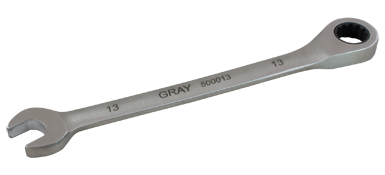 Combination Wrenches Gray 500013 13mm Combination Fixed Head Ratcheting Wrench Stainless Steel Finish