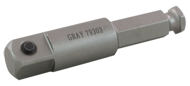 Drive Extensions Gray 79303 1/2 Inch Drive Male Square End 7/16 Inch Male Hex Extension 3 Inch Long