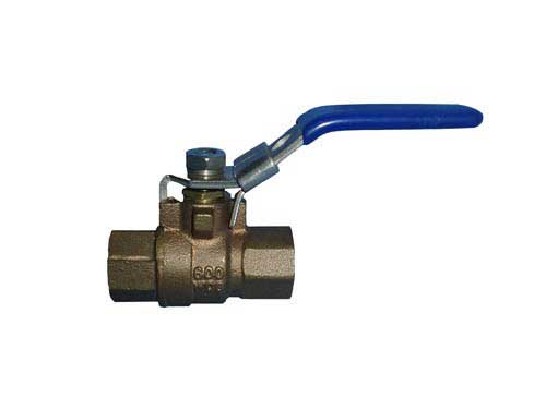 Valves Tuff Grade TG-BBVT-3/4-L/O 3/4 Inch Brass Ball Shut-Off Valve Full Port Threaded With Locking Handle