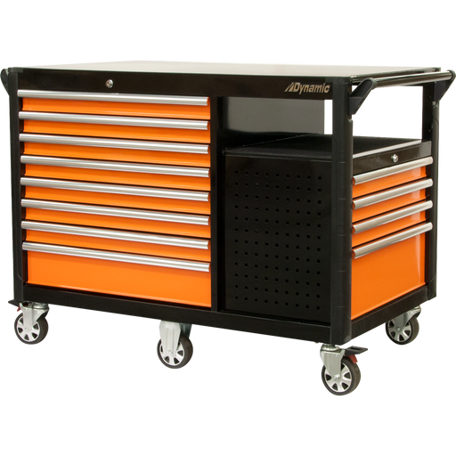 Dynamic D069209 Tools 52 Inch Industrial Cart With 12 Drawers