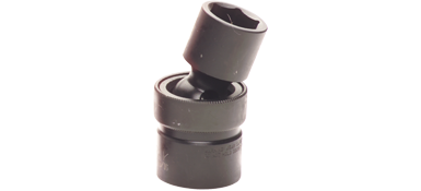 Sockets Gray PHU18 9/16 Inch X 1/2 Inch Drive 6 Point Standard Length Universal Joint Socket Black Impact